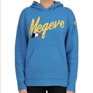 Moncler NEW Megeve cashmere and wool hoodie